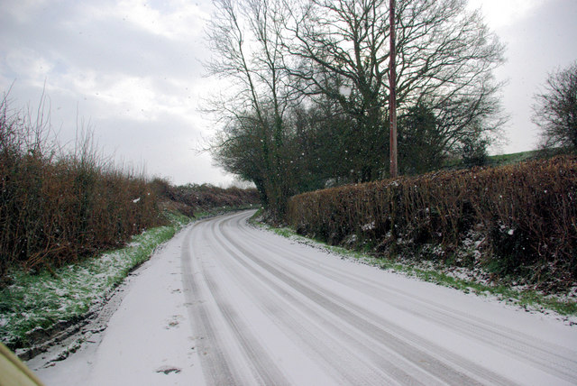 Butcherfield Lane in the snow