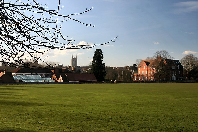 School and playing fields, Bury St Edmunds