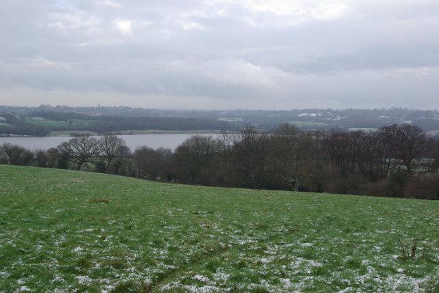 View towards Weir Wood Reservoir