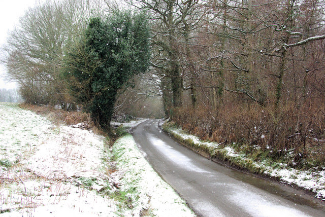 Parrock Lane in the Snow