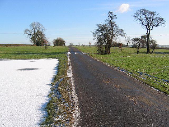 Road through the Tissington Estate