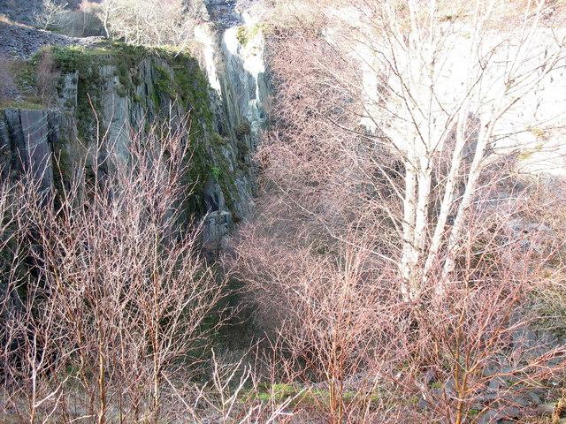 Upper Glynrhonwy Quarry - Lower Pit