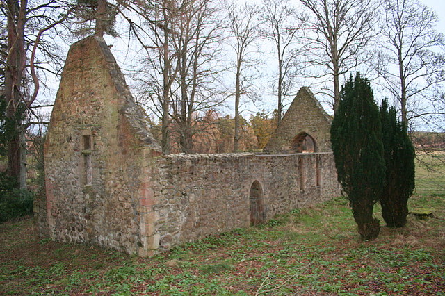 Remains of the auld kirk on Altyre Estate.