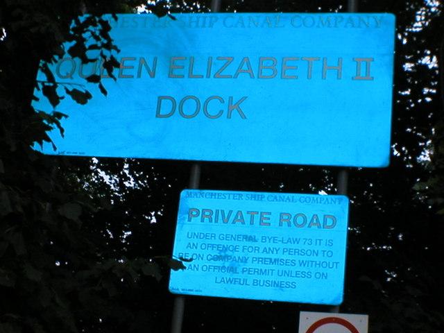 Queen ElizabethDock entrance.