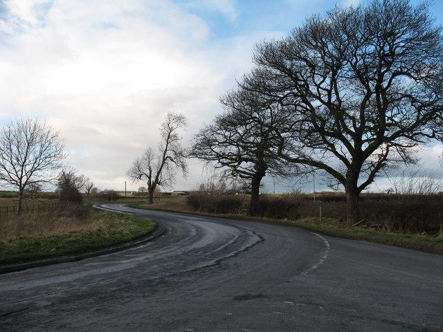 Road junction near Milby