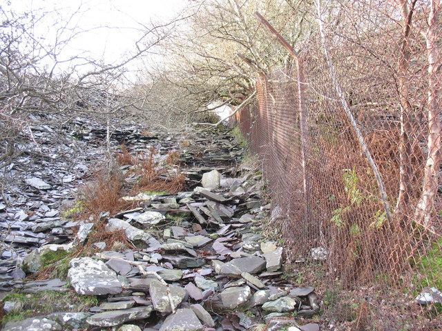 The middle section of the 2nd pitch of the Ffridd Incline