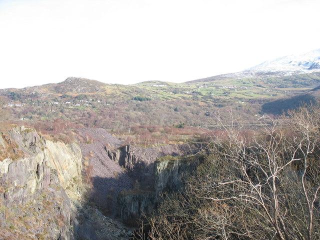 Upper pit of Glynrhonwy Lower
