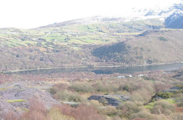 The Afon Fachwen re-entrant viewed from Glynrhonwy