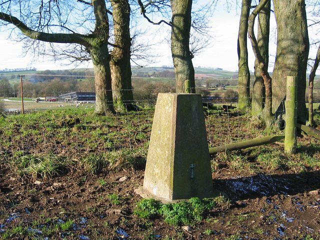 Triangulation pillar on Wibben Hill