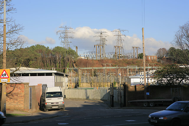 Electricity substation, Poole