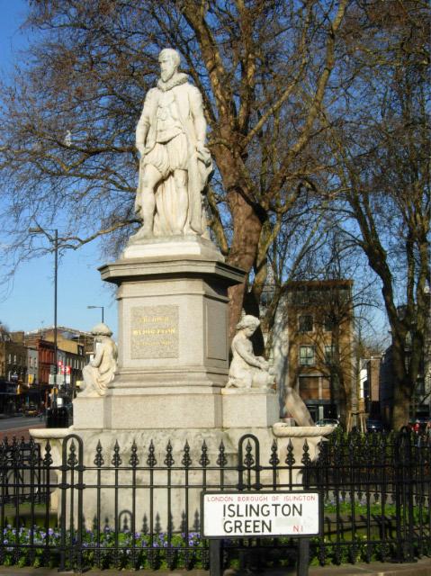 Sir Hugh Myddelton, Islington Green