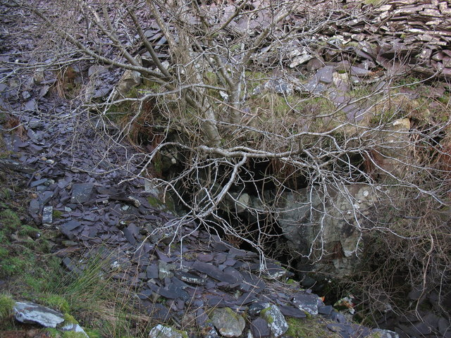 The 'lefal'  to the bottom of Y Ddol pit of Cook&Ddol Quarries