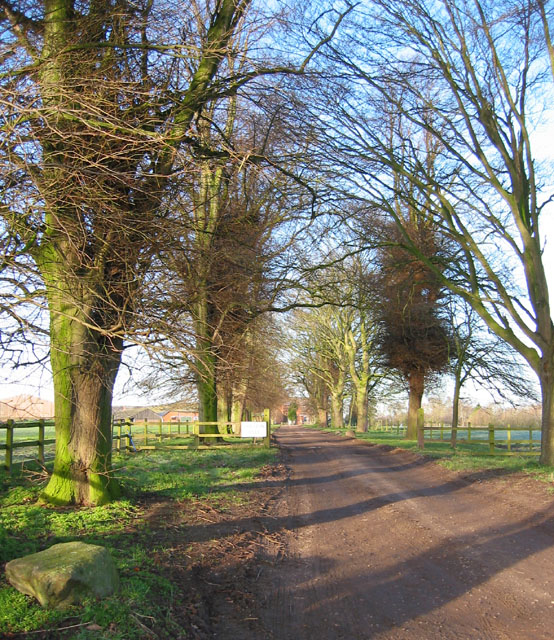 The track to Smeaton Hall