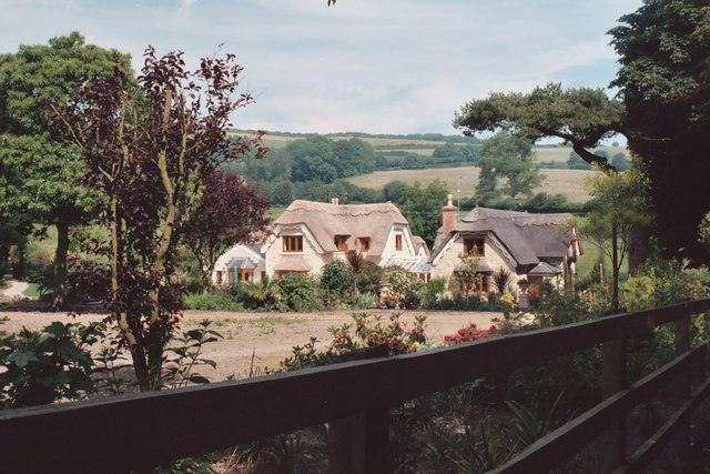 Shanklin Downs over the thatched cottages