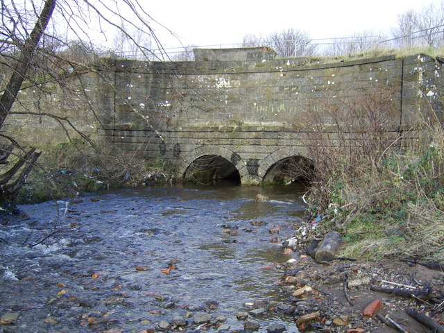Burn underpassing Canal in Dalmuir