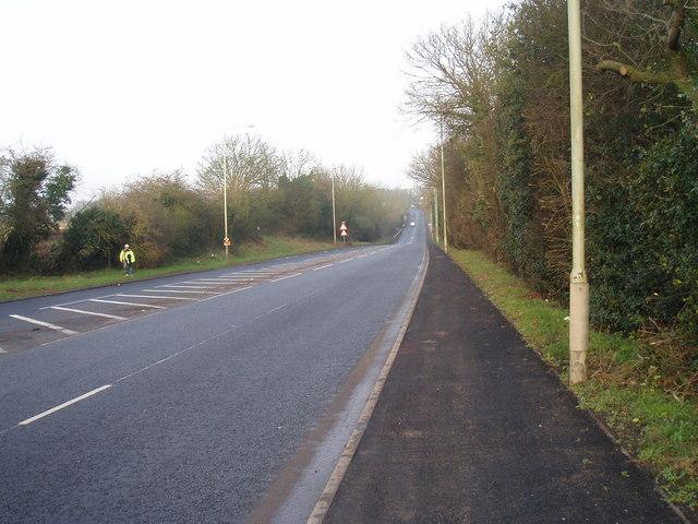 The A511 heading towards Bardon