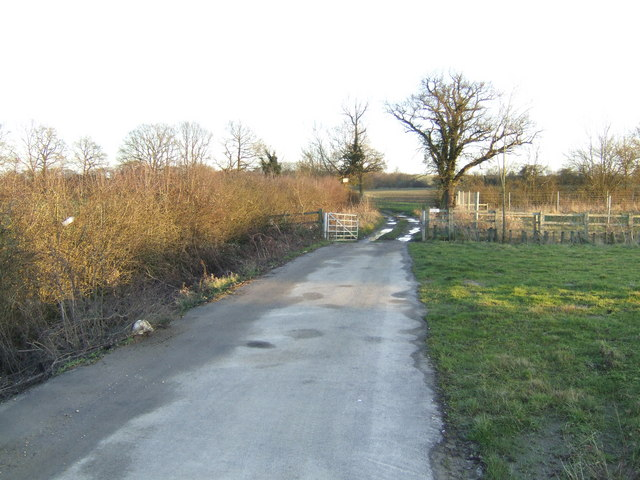 Field entrance off Witney eastern by-pass.