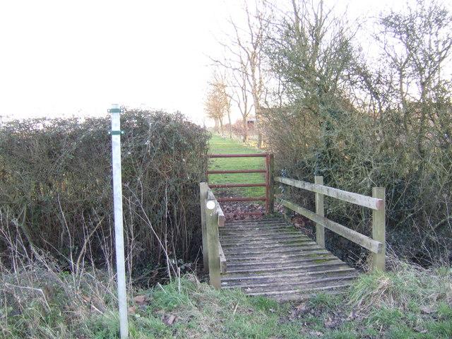 Footpath past Warners