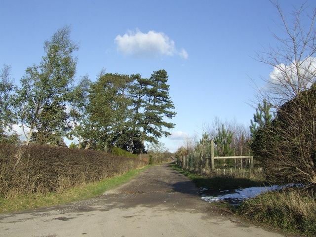 Track to Tubney Manor Farm