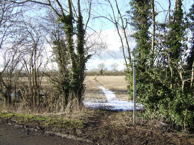 Footpath north from Cassington Lane