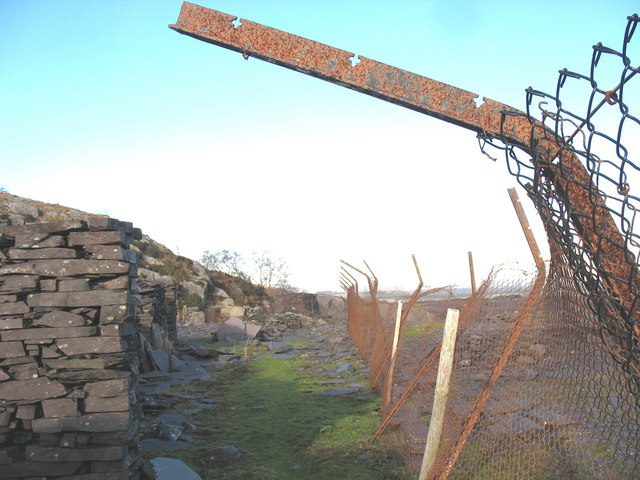 Working area at the bottom end of Y Ddol Quarry