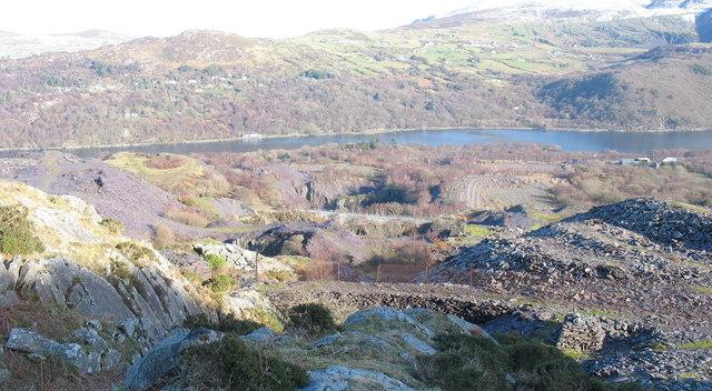 The Glynrhonwy Quarries from Y Ddol