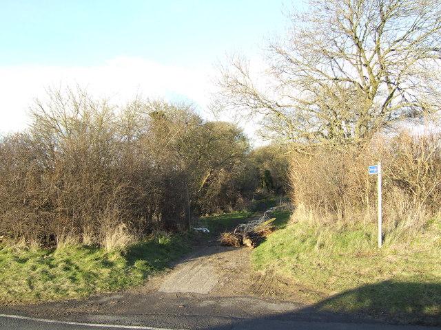 Bridleway off the B4027