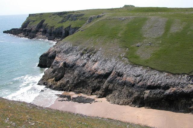 New Quay beach near St Govan's Head, Pembrokeshire