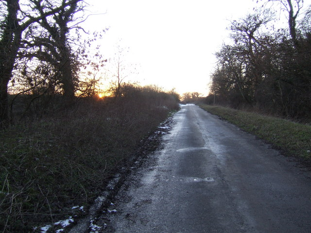 Old A40 at sunset