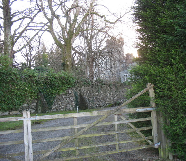 The gate entrance to Castell Bryn Bras Castle
