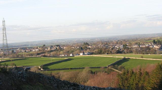 The fields of Fferm Cae Llwyd