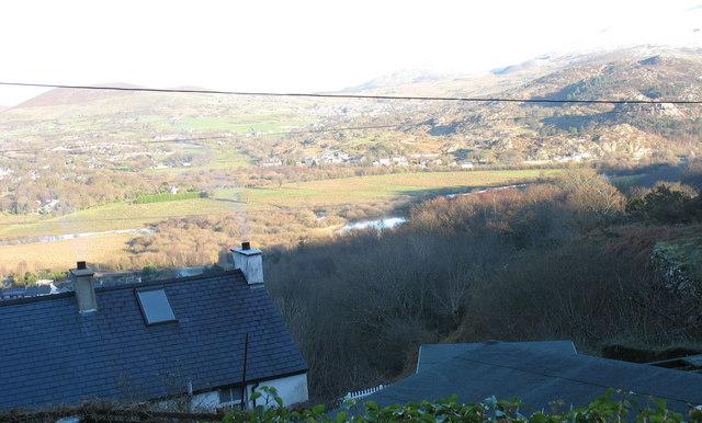 Afon Rhythallt from Bwlch, Cwm-y-glo