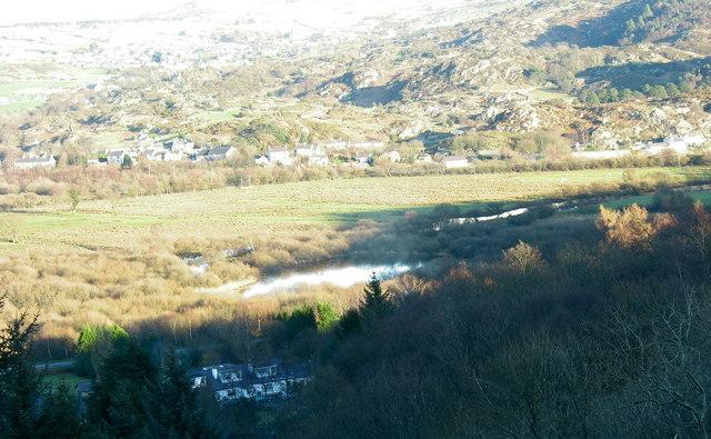 Llyn Bogelyn on the Afon Rhythallt