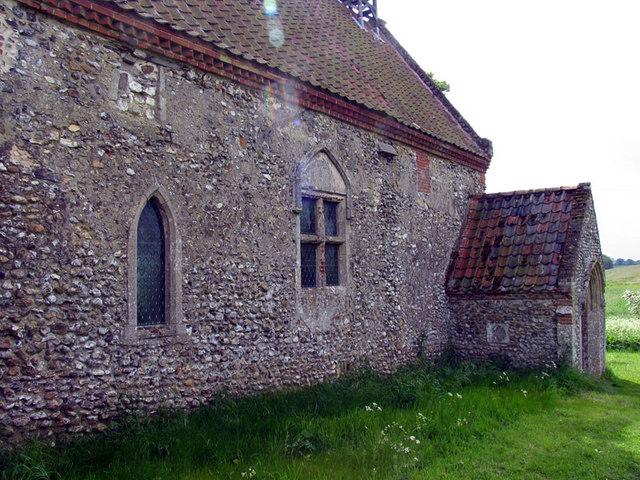 All Saints, Waterden, Norfolk - Porch