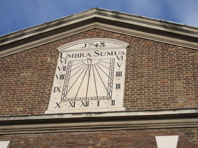"""""""Umbra Sumus"""" sundial"""