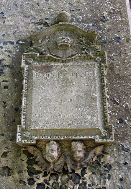 St Mary, Great Witchingham, Norfolk - Wall monument