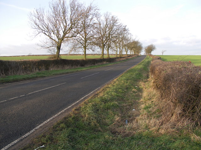 Clipston Road on Cold Winter Day