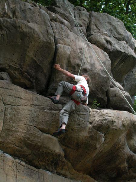 Climbing at Bowles Outdoor Centre