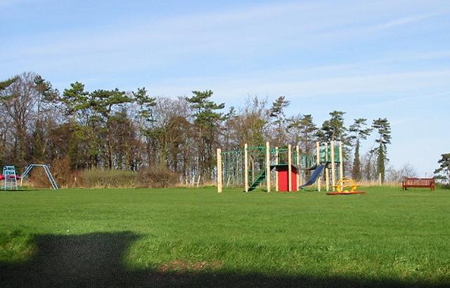 Play park on village green, Woolage Village.