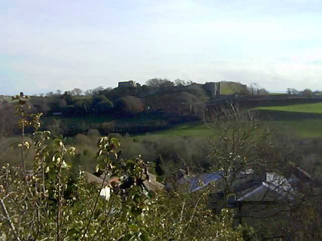 Carisbrooke Castle from above Clatterford Road