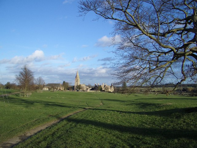 Footpath to St Mary's Church at Pilton