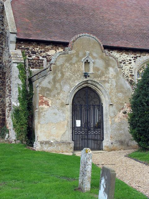 St Andrew, West Dereham, Norfolk - Porch