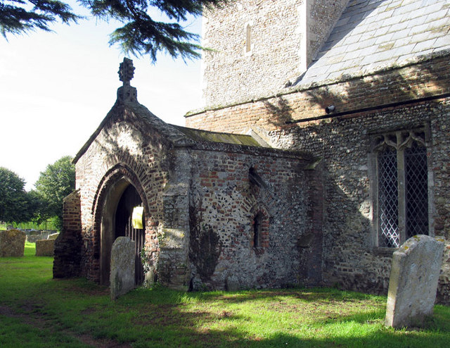 All Saints, Wretton, Norfolk - Porch