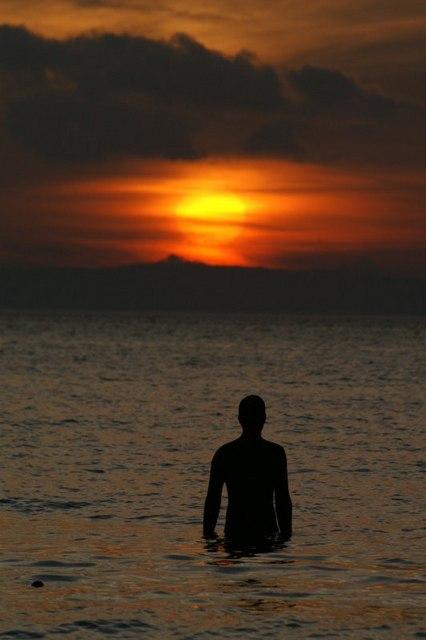 Sunset statue, Blundellsands