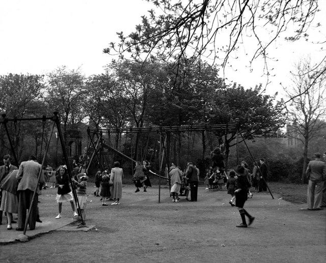 Children's playground, Greenhead Park, Huddersfield, Yorkshire