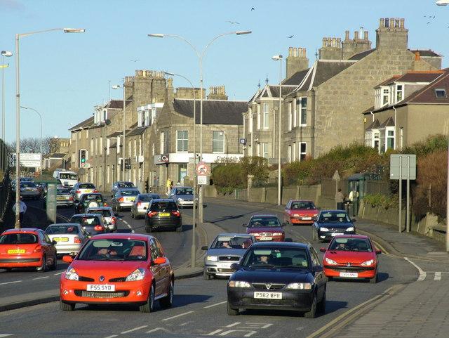 Traffic on Ellon Road, Aberdeen