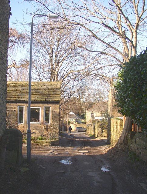 Lower end of Bowling Alley, Rastrick
