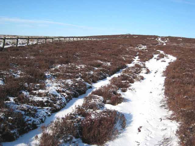 The track up the Red Brae