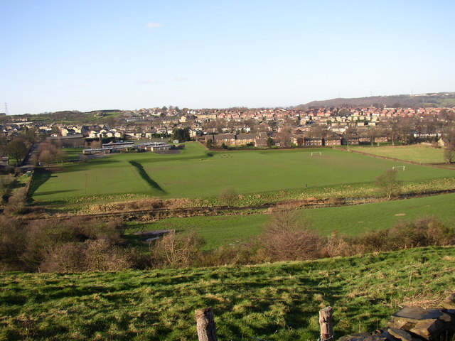 View of playing fields off Carr Green Lane, Rastrick