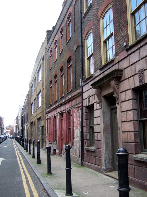 Princelet Street, south side looking east.